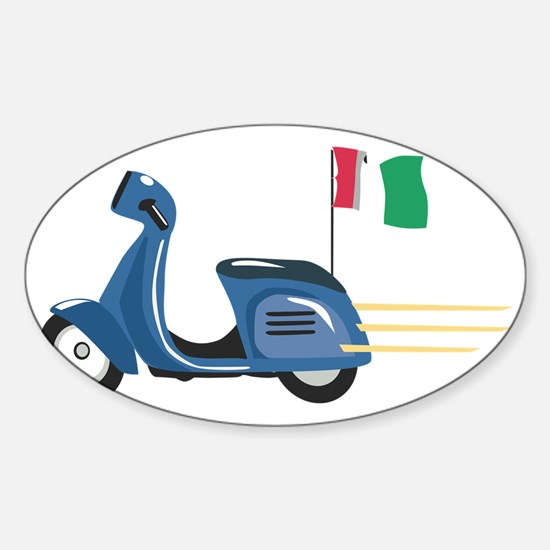 Italian Vespa Sticker (Oval)