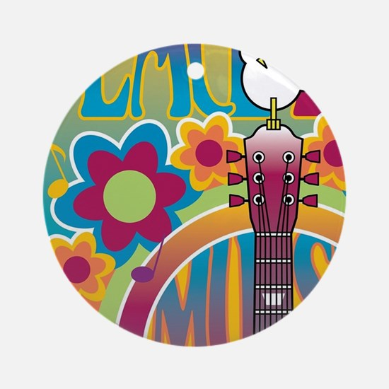 Tribute To Woodstock Round Ornament