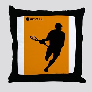 Lacrosse I Roll Throw Pillow
