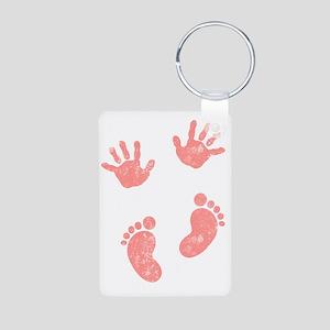 Baby Print Aluminum Photo Keychain