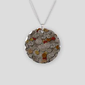 iPAD SLEEVE Necklace Circle Charm