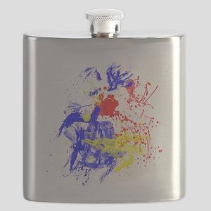 Primary Splatter Flask