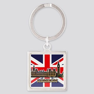 parliament Square3 Square Keychain