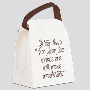 Let her sleep Canvas Lunch Bag