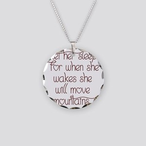 Let her sleep Necklace Circle Charm