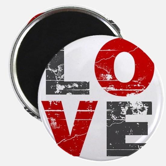 Distressed Love Sign Magnet