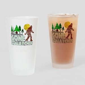 Distressed Original Gone Squatchin  Drinking Glass