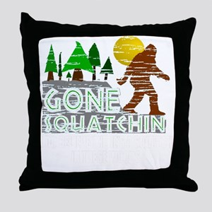 Distressed Original Gone Squatchin De Throw Pillow