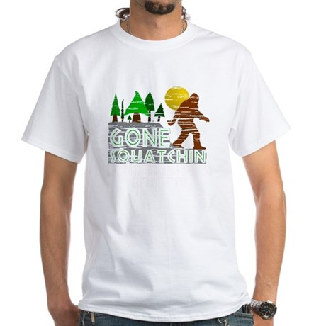 Distressed Original Gone Squatchi White T-Shirt