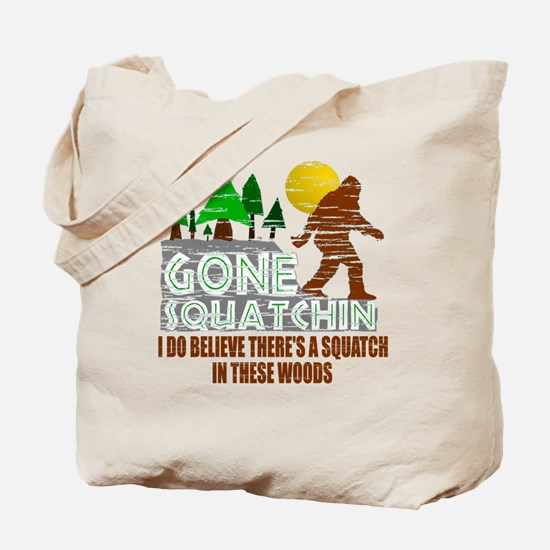 Distressed Original Gone Squatchin Design Tote Bag