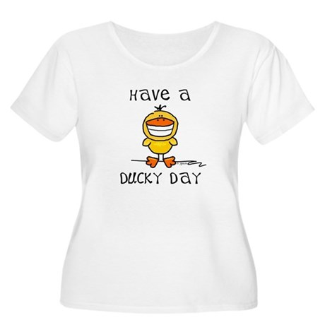 Ducky Day Women's Plus Size Scoop Neck T-Shirt