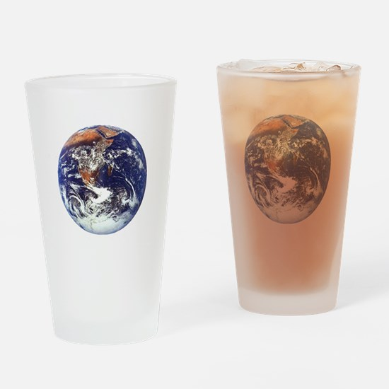 earth122013darkT Drinking Glass