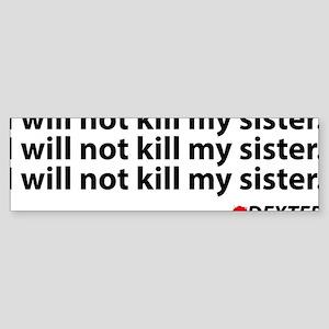 dexterKillSister1A Sticker (Bumper)