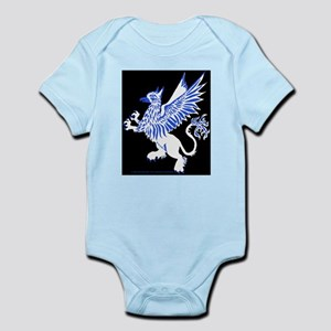 Graphic Gryphon Blue White Infant Bodysuit