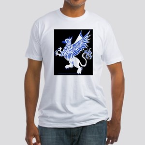 Graphic Gryphon Blue White Fitted T-Shirt