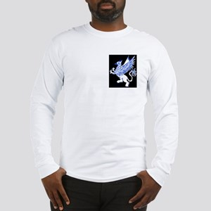Graphic Gryphon Blue White Long Sleeve T-Shirt