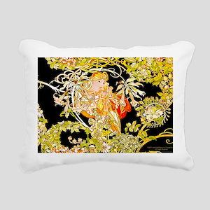 Laptop Mucha Color Margu Rectangular Canvas Pillow