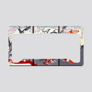 Laptop Cherry Blossom Time Ch License Plate Holder