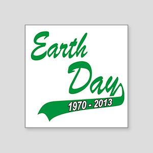 """earth62013Wblack Square Sticker 3"""" x 3"""""""