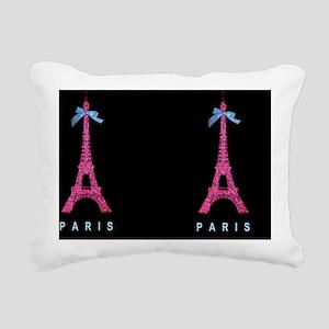 Pink Paris Eiffel Tower  Rectangular Canvas Pillow