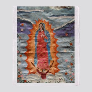 Our Lady of Guadalupe (Papyrus Ver.) Throw Blanket