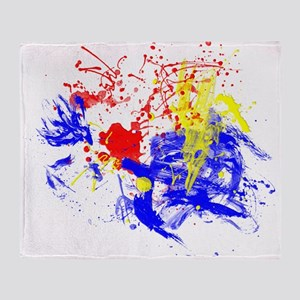 Primary Splatter Throw Blanket