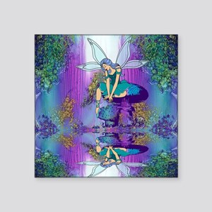 "fairy shower curtains Square Sticker 3"" x 3"""