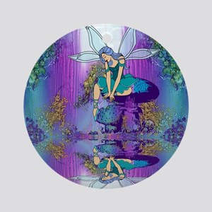 fairy shower curtains Round Ornament