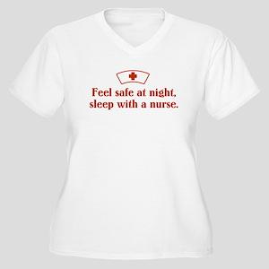 Feel safe at night, sleep wit Women's Plus Size V-