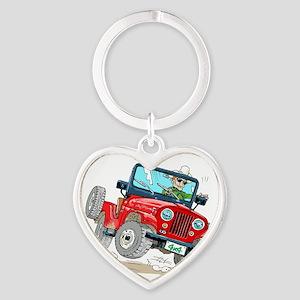 Willys-Kaiser CJ5 jeep Heart Keychain