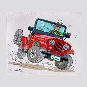 Willys-Kaiser CJ5 jeep Throw Blanket