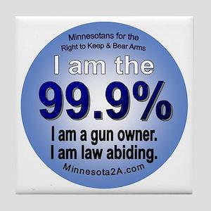 I am the 99.9% - MN Tile Coaster