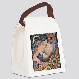 Sun and Moon Lovers Canvas Lunch Bag