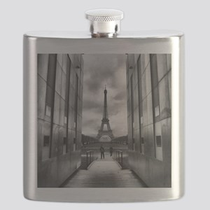 Eiffel tower viewed from wall for peace Flask