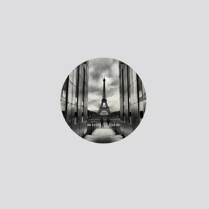 Eiffel tower viewed from wall for peac Mini Button