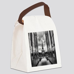 Eiffel tower viewed from wall for Canvas Lunch Bag