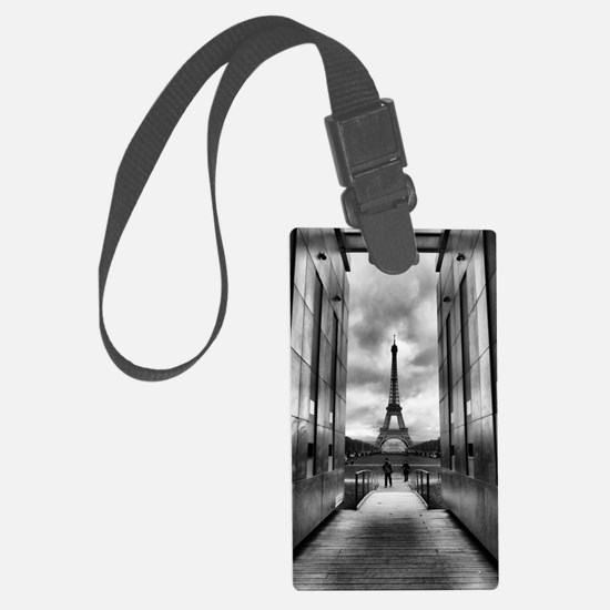 Eiffel tower viewed from wall fo Large Luggage Tag