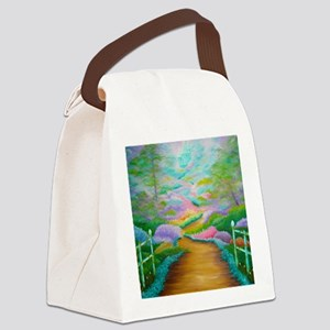 fantasy shower curtain Canvas Lunch Bag