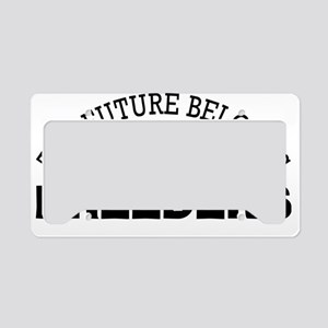 Future Belongs to Breeders License Plate Holder