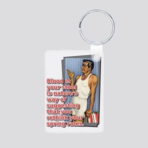 Blood In Your Stool Dirt B Aluminum Photo Keychain