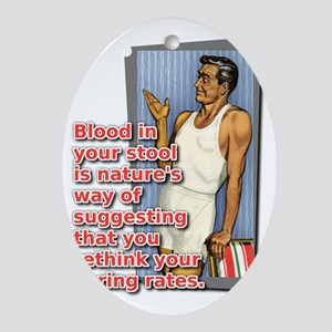 Blood In Your Stool Dirt Bike Motocr Oval Ornament