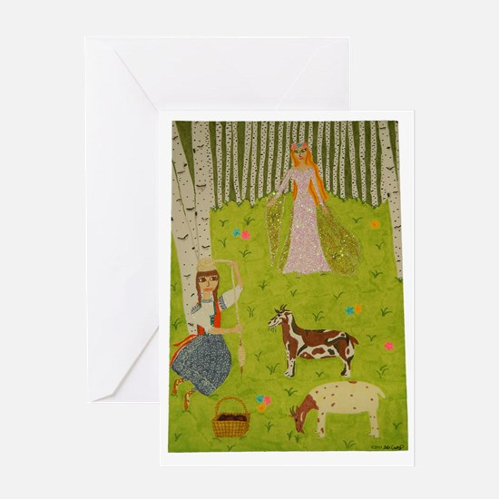 Wood Maiden Greeting Card