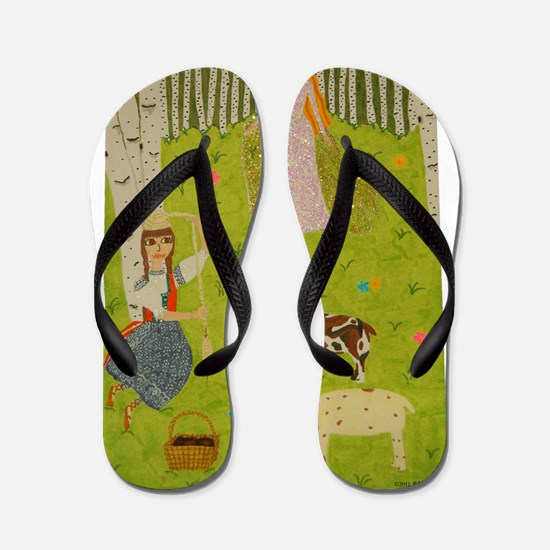 Wood Maiden Flip Flops