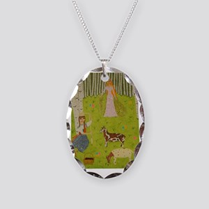 Wood Maiden Necklace Oval Charm