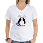 Easter penguin Women's V-Neck T-Shirt