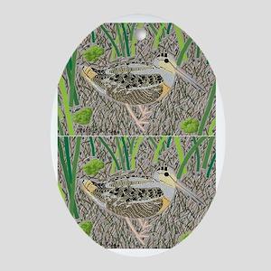 Woodcock Oval Ornament