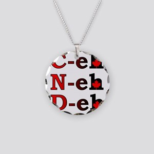 Canada Eh! Funny Canadian T- Necklace Circle Charm