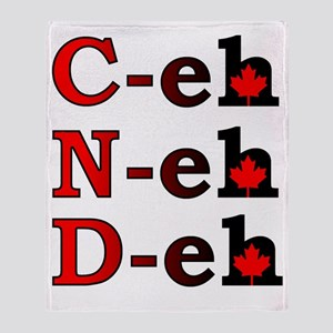 Canada Eh! Funny Canadian T-Shirt Throw Blanket