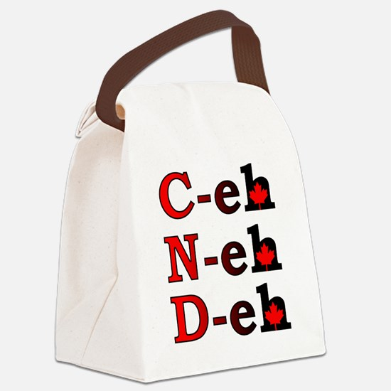 Canada Eh! Funny Canadian T-Shirt Canvas Lunch Bag