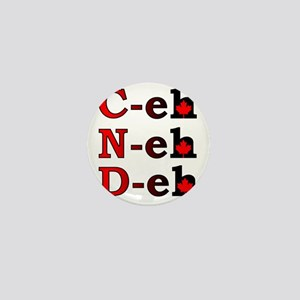 Canada Eh! Funny Canadian T-Shirt Mini Button